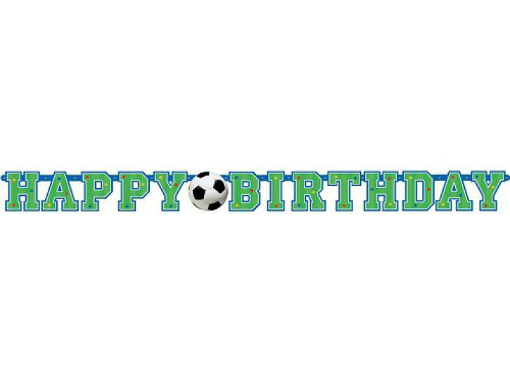 Banner Happy Birthday Fußball