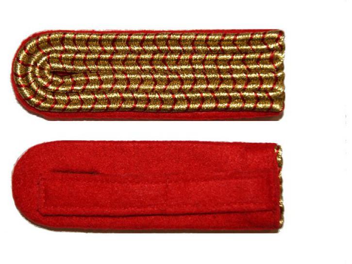 Schulterstücke rot/gold national 4 Streifen