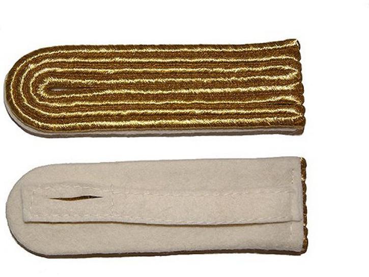 Schulterstücke weiß/gold 4 Streifen