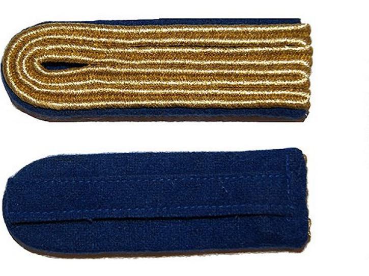 Schulterstücke blau/gold 4 Streifen