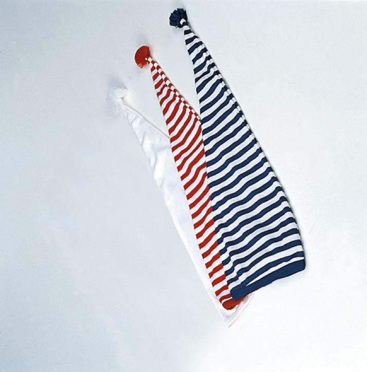 Maxi-Zipfelmütze blau-weiss