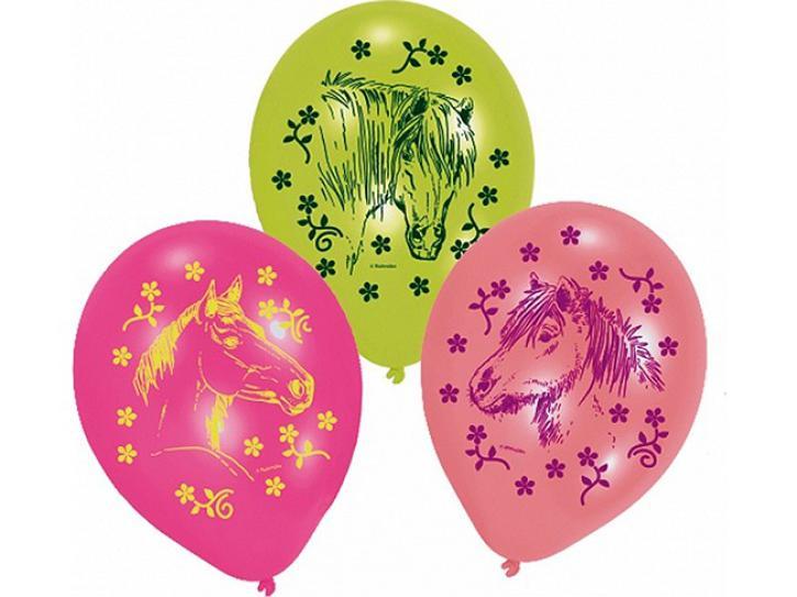 Luftballon Pferde 6 Stk.