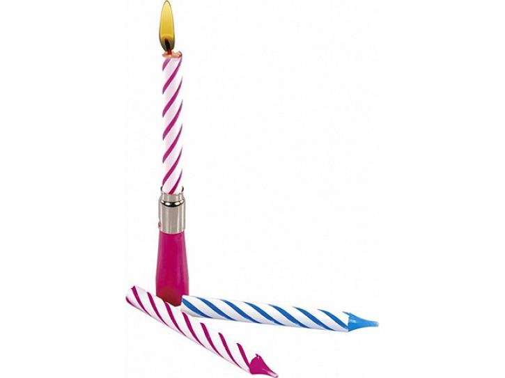 Geburtstagskerze mit Musik blau o. pink