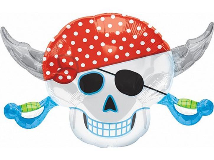 Folienballon Piraten Party Skull