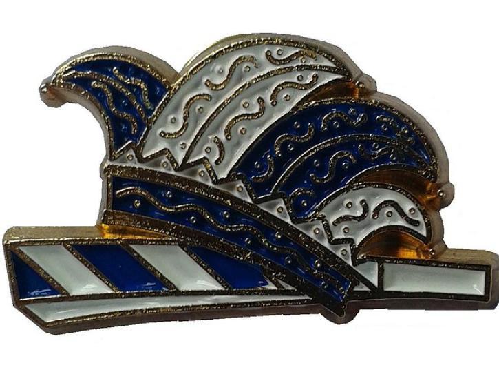 Karnevalspin Kappe blau-weiß
