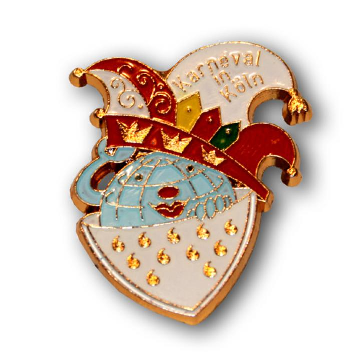 Karnevalspin Kölner Wappen mit Mütze