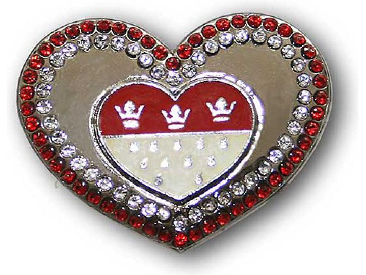 Brosche Köln Wappen als Herz