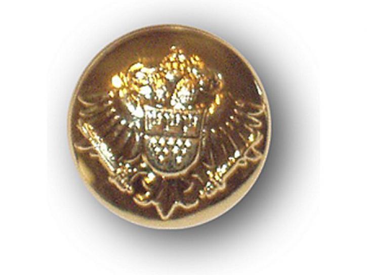 Knopf Adler mit Kölner Wappen gold