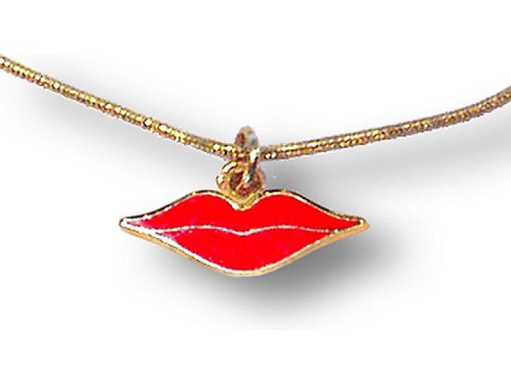 Halskette Roter Mund
