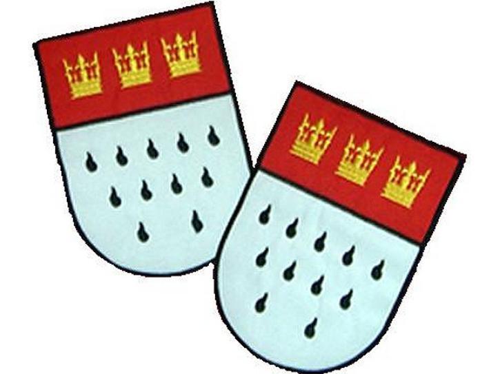 Aufbügler Kölner Wappen 2er Set