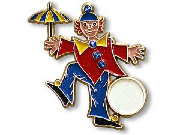 Karnevalspin mit Nadel Clown