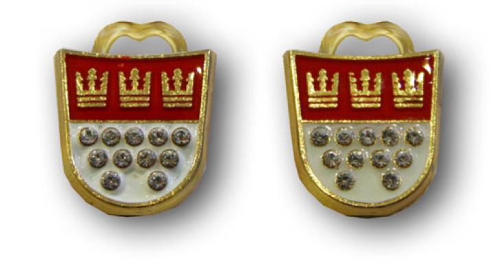 Ohrclip Kölner Wappen