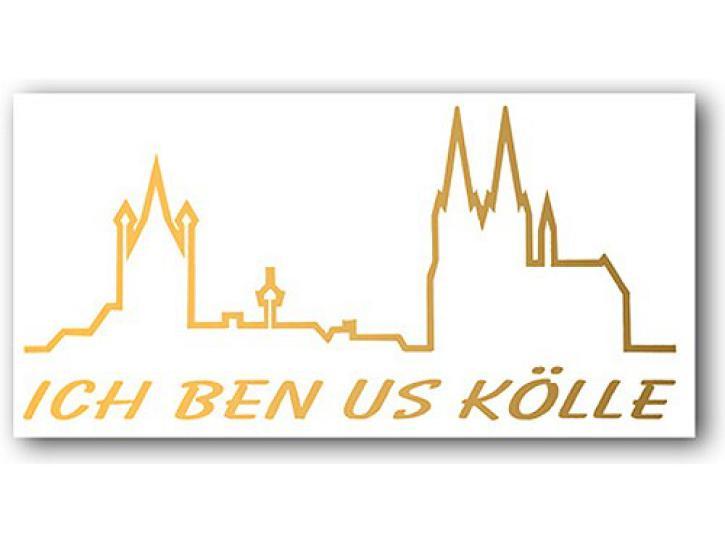 Aufkleber ICH BEN US KÖLLE m. Skyline gold