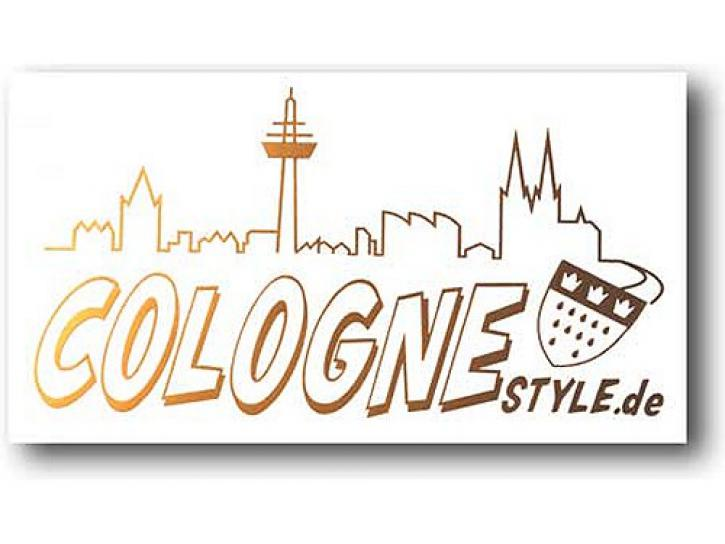 Aufkleber COLOGNE STYLE m. Skyline gold