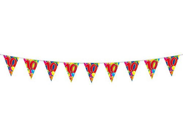 Wimpelkette Ballons 10 Jahr, 10m