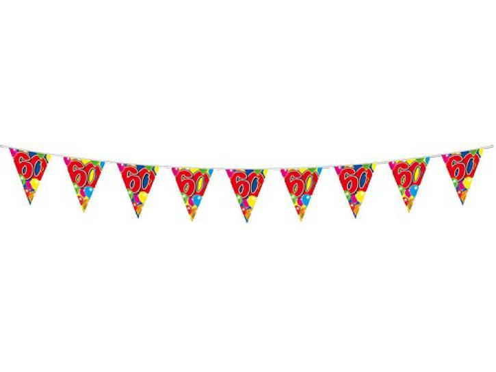 Wimpelkette Ballons 60 Jahr, 10m