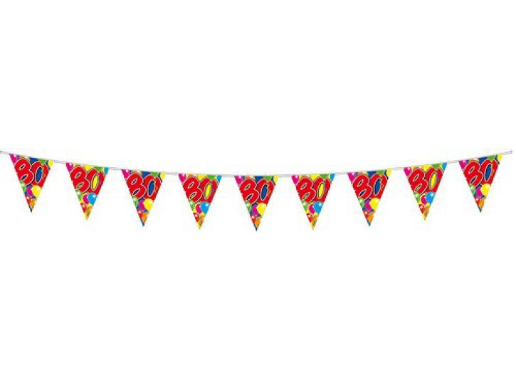 Wimpelkette Ballons 80 Jahr, 10m