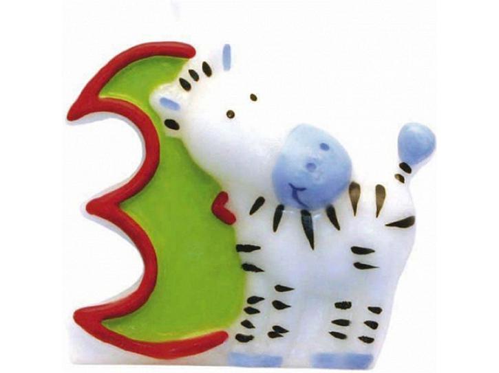 Zahlenkerze 3 Safari