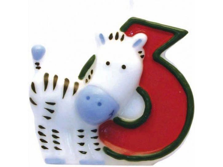 Zahlenkerze 6 Safari