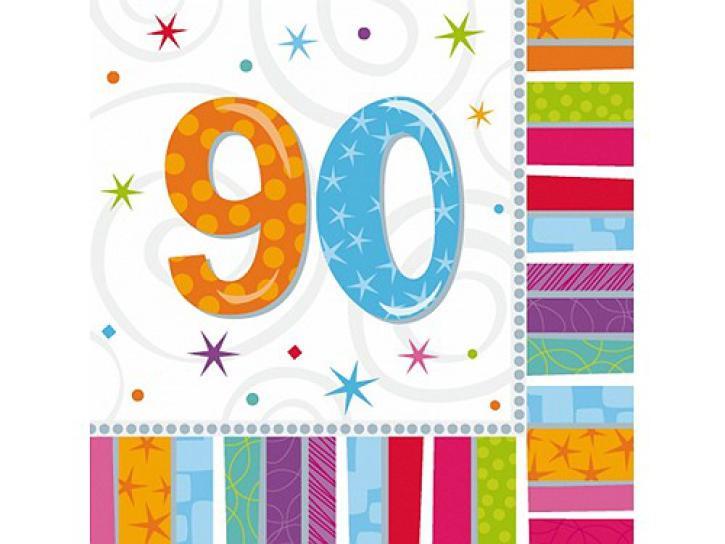 Servietten radiant 90. Geburtstag 16 Stk.
