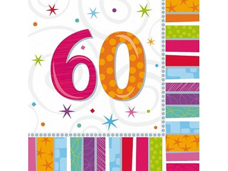 Servietten radiant 60. Geburtstag 16 Stk.