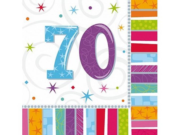 Servietten radiant 70. Geburtstag 16 Stk.