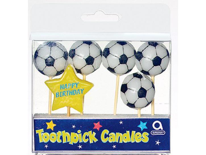 Kerze Soccer 6 Stk.