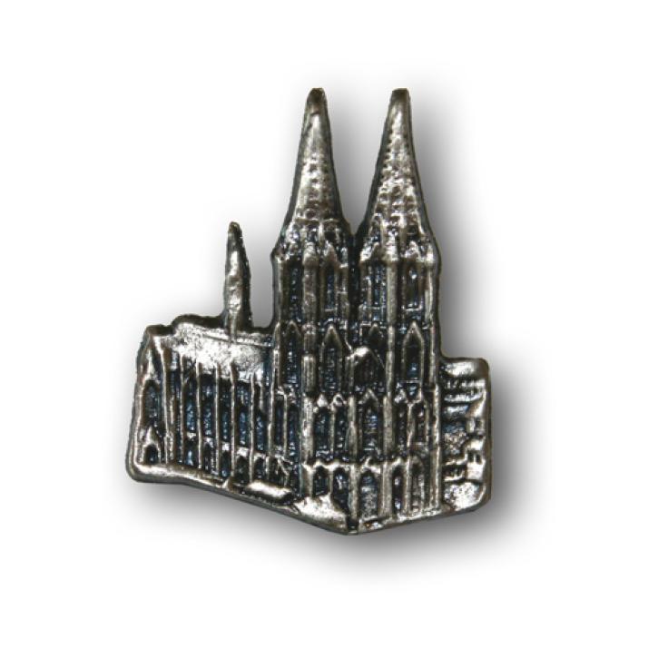 Pin Kölner Dom altsilber