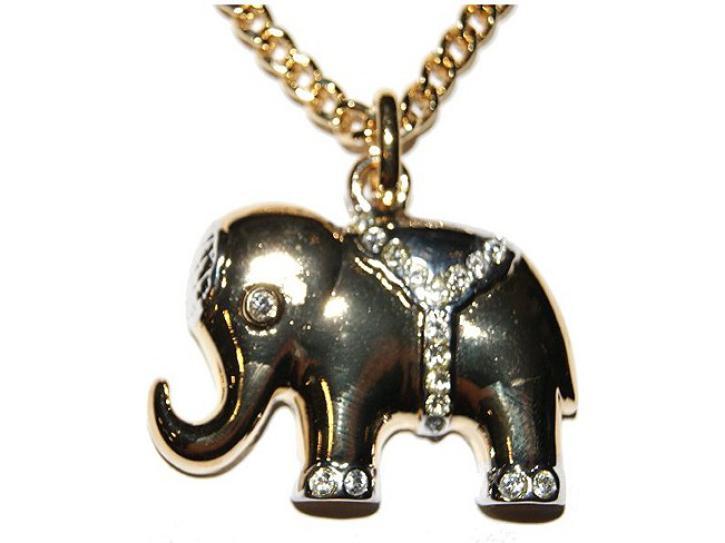 Halskette Elefant vergoldet
