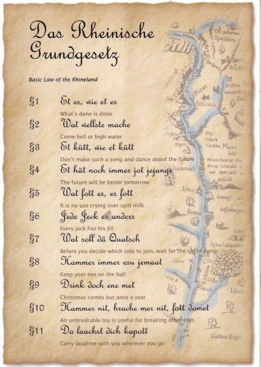 Postkarte Das Rheinische Grundgesetzt