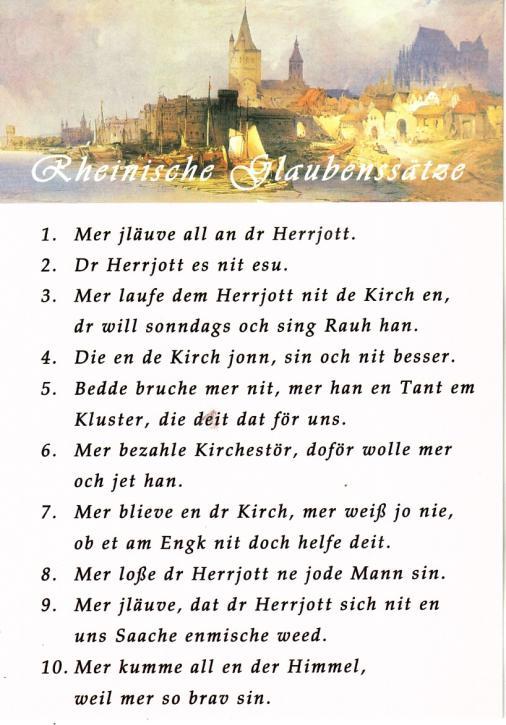 Postkarte Das kölsche Grundgesetz
