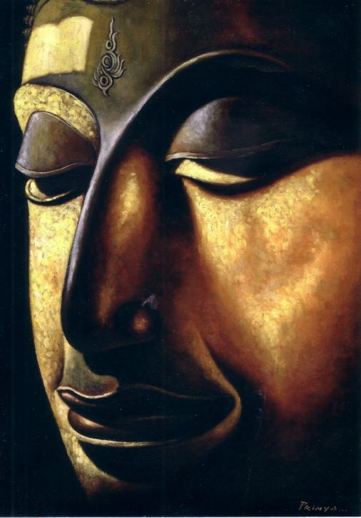 Postkarte Budda