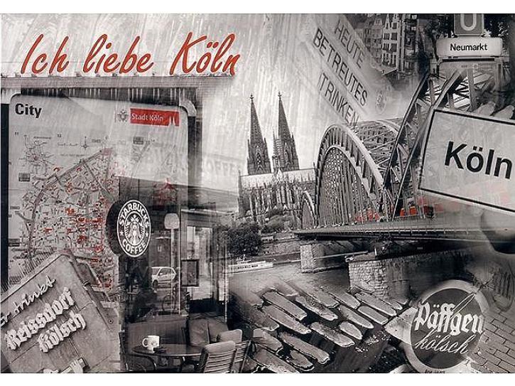 Postkarte Ich liebe Köln