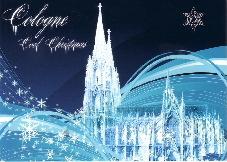 Postkarte Cologne Cool Christmas