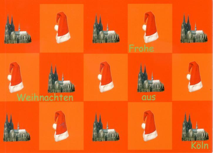 Postkarte Frohes Weihnachten aus Köln