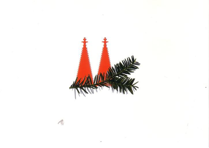 Postkarte Frohes Fest aus Köln