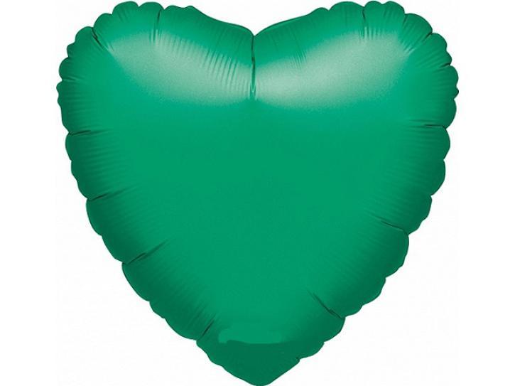 Folienballon Herz grün 45cm