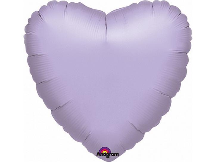 Folienballon Herz flieder 45cm