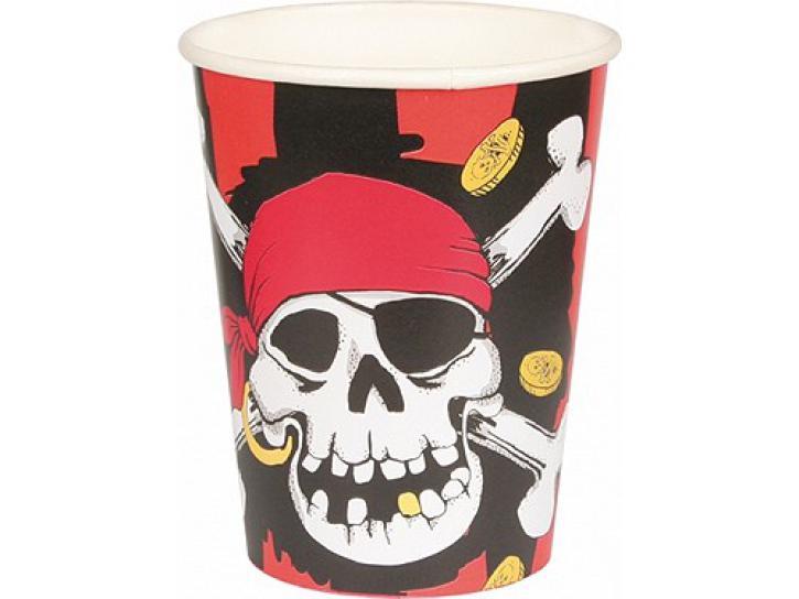 Becher Jolly Roger Pirat 8 Stk.