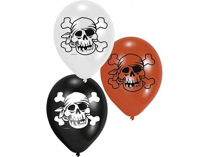 Luftballon Jolly Roger 6 Stk.