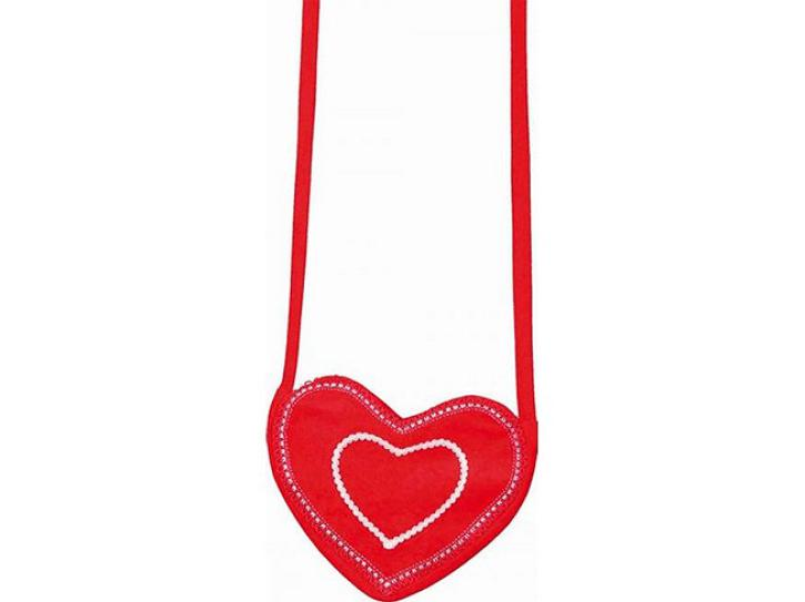 Herztasche rot