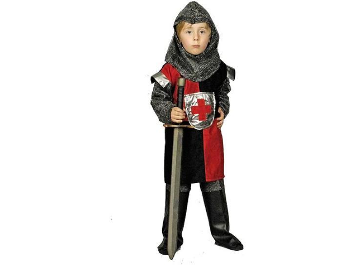 Kostüm Ritter rot-schwarz 3tlg Gr. 116-128