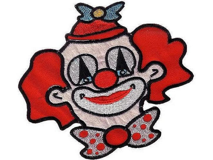 2 Bügelbilder Clown klein