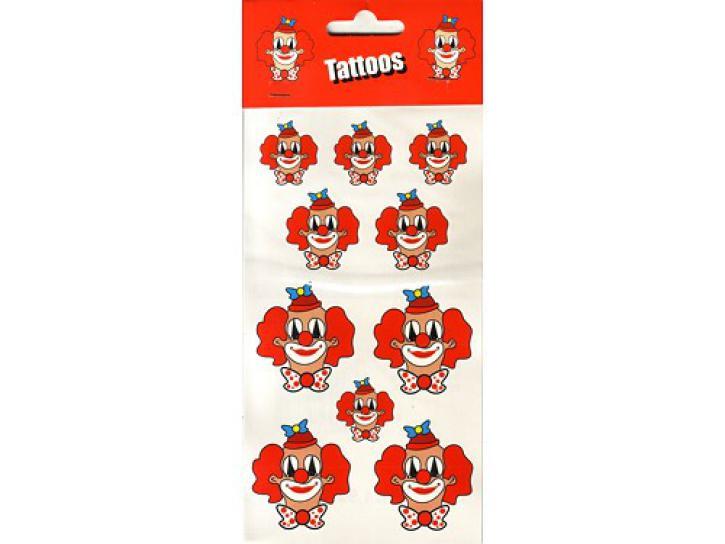 Tattoos Clown 10 Stck.