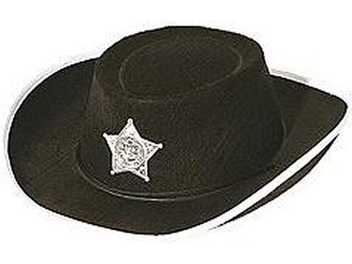Cowboyhut schwarz für Kinder