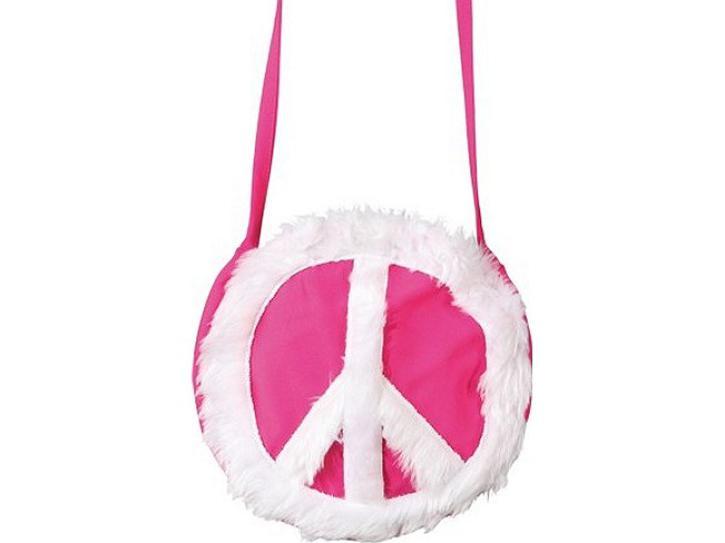 Tasche Peace pink/weiß