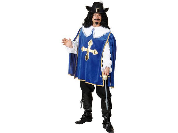 Kostüm Musketier DArtagnon blau Gr.50/52