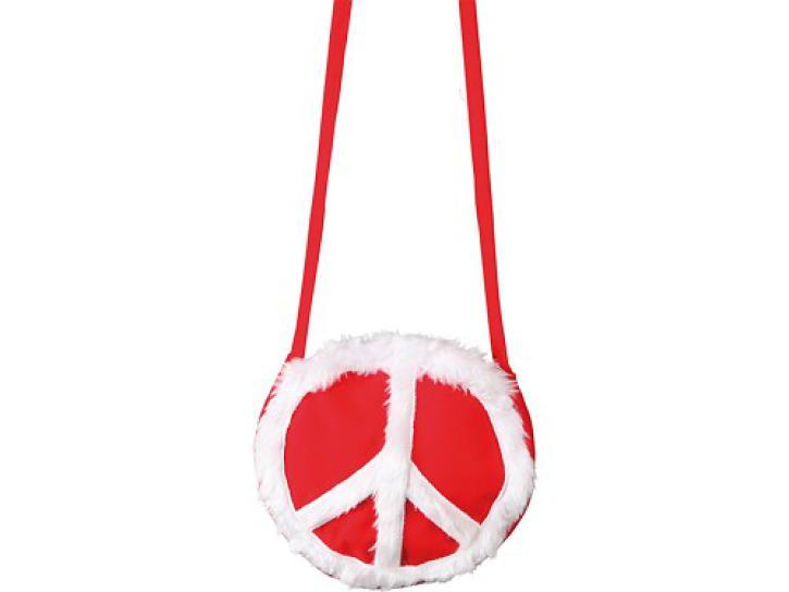 Tasche Peace rot/weiß