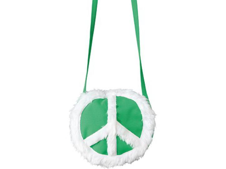 Tasche Peace grün/weiß