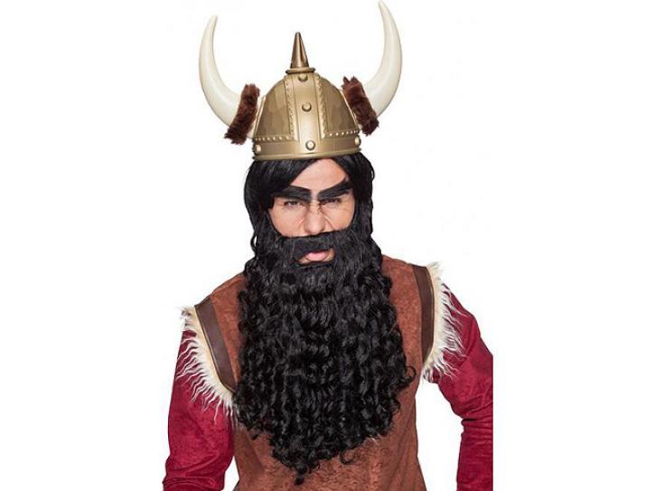 Bart gelockt lang schwarz